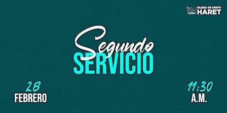 SEGUNDO SERVICIO // DOMINGO 28 FEBRERO // 11:30 A.M. entradas