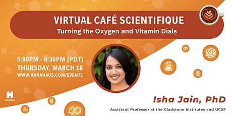 Virtual Café Scientifique | Turning the Oxygen and Vitamin Dials tickets