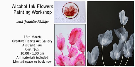 Alcohol Ink Flowers Painting  Workshop tickets