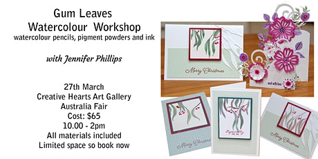 Watercolour Gum Leaves Painting  Workshop tickets