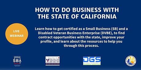How to Do Business with the State of California tickets