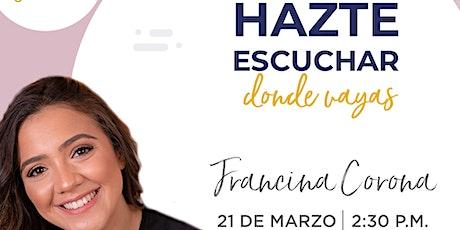 Conferencia (online) de Francina Corona en Emprende SDQ tickets