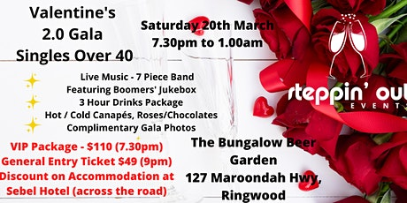 Valentine's 2.0 Gala - Singles over 40  Melbourne (General Entry Ticket) tickets