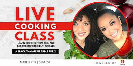 Live Cooking Class: Black Thai Affair Table For 2 tickets