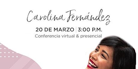 Conferencia (online) de Carolina Fernández en Emprende SDQ tickets