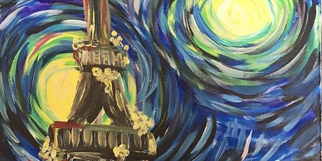 Starry Night At Paris Sip & Paint (In-Studio or Virtually) tickets