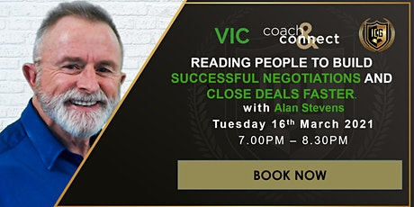 READING PEOPLE TO BUILD SUCCESSFUL NEGOTIATIONS AND CLOSE DEALS FASTER. tickets