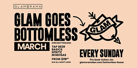 Glam Goes Bottomless in March tickets