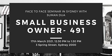 BSMQ Small Business Owners Pathway (491 Visa) tickets