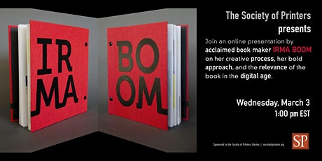 An afternoon with Irma Boom tickets