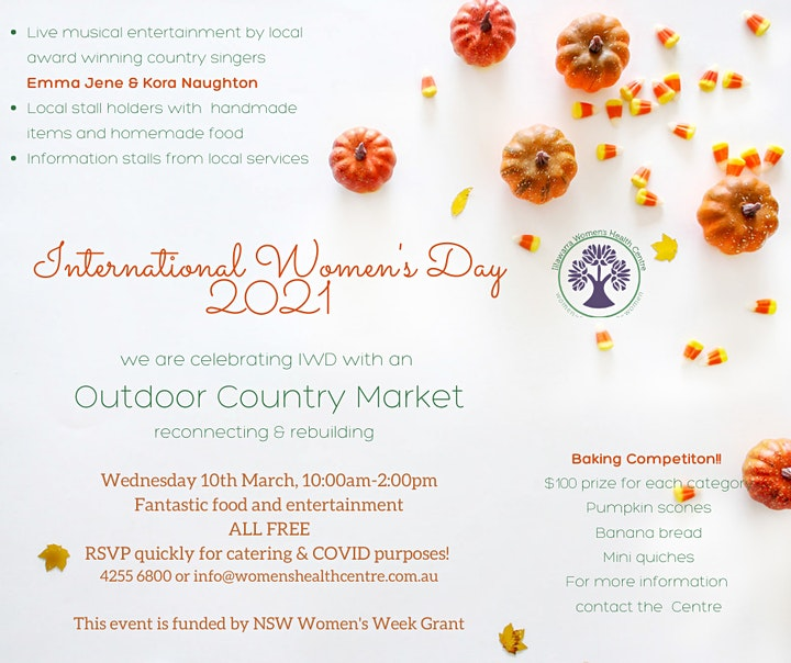 International Women's Day Outdoor Country Market: Reconnect and Rebuild image