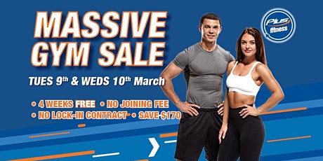 Plus Fitness Turramurra Biggest Ever Gym Membership SALE tickets