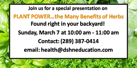 Plant Power - Herbal Studies tickets
