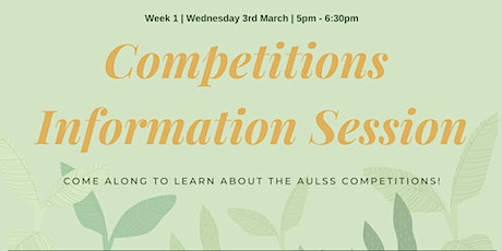 Competitions Information Session tickets