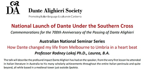 National Launch of Dante Under the Southern Cross tickets