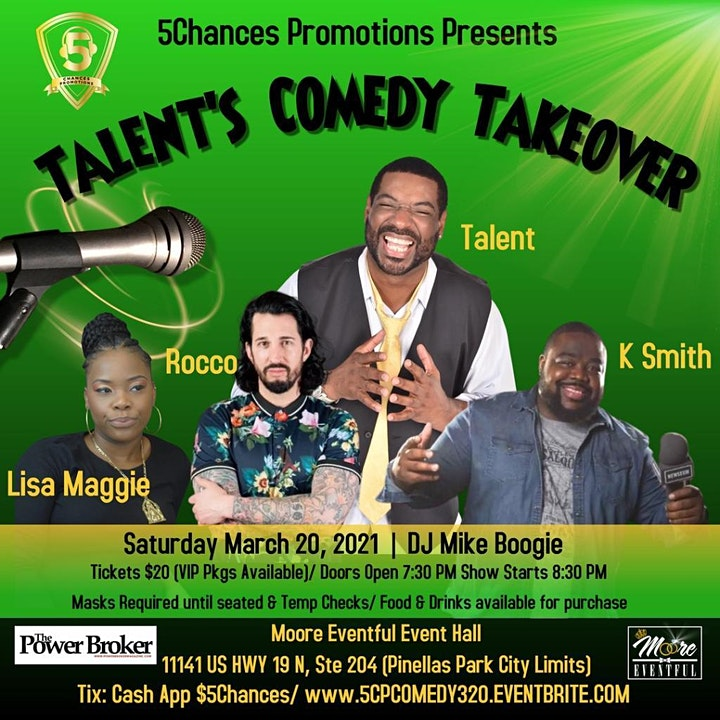 5CP Presents Talent's Comedy Takeover image