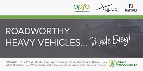 Roadworthy Heavy Vehicles... Made Easy! - Jamestown Morning Workshop tickets