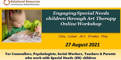 Engaging Special Needs with Art Therapy Online Workshop tickets