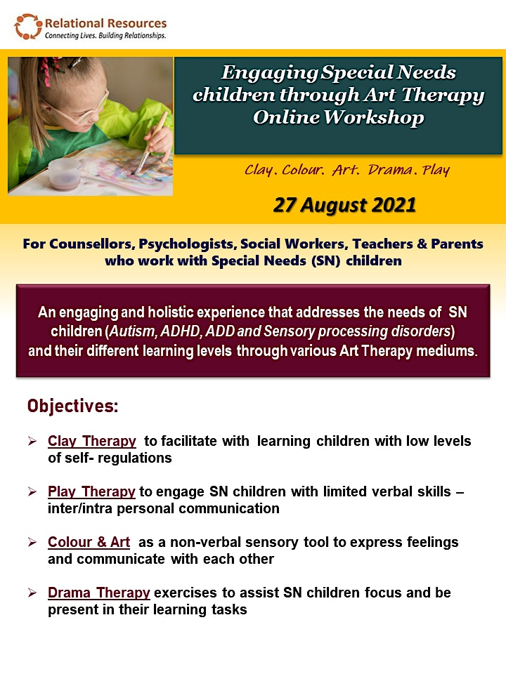 Engaging Special Needs with Art Therapy Online Workshop image