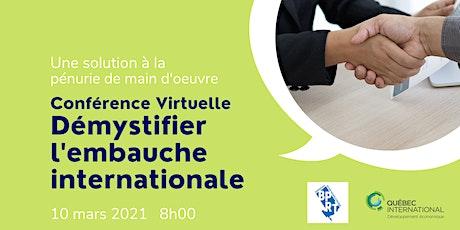 Conférence virtuelle - Québec International billets