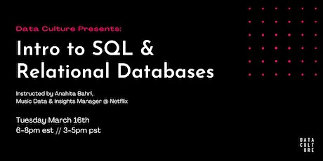 Intro to SQL & Relational Databases tickets
