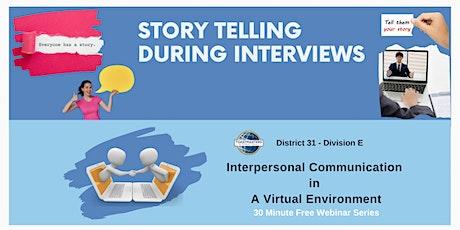 Interpersonal Communication in a Virtual Environment - Free Webinar-Mar 01 billets