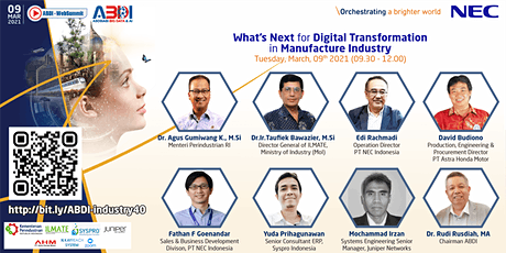 What's Next for Digital Transformation in Manufacture Industry tickets