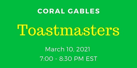Coral Gables Toastmasters - Online Meeting tickets