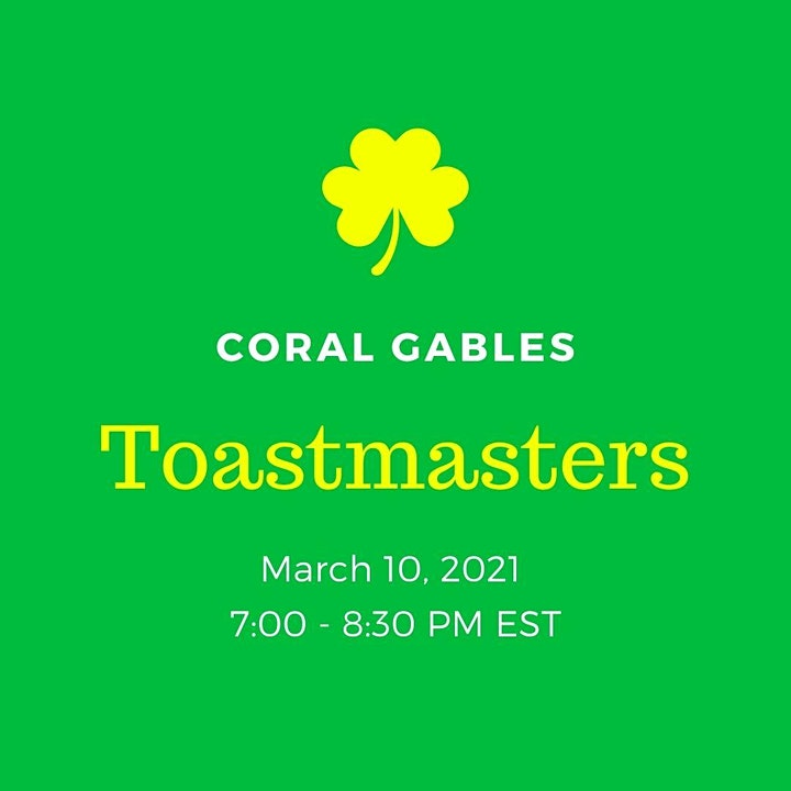 Coral Gables Toastmasters - Online Meeting image
