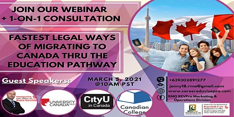 FASTEST LEGAL WAYS OF MIGRATING TO CANADA THRU THE EDUCATION PATHWAY tickets