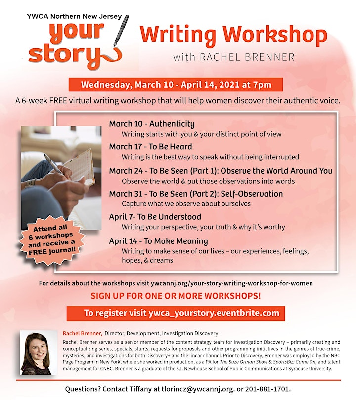 Your Story  - Writing Workshop image