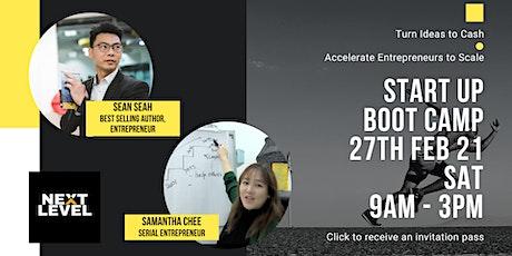 Startup Bootcamp billets