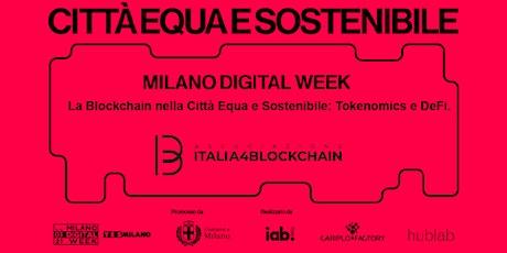 La Blockchain nella Città Equa e Sostenibile: Tokenomics e DeFi biglietti