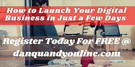 How To Launch Your Online Business In Just A Few Days tickets