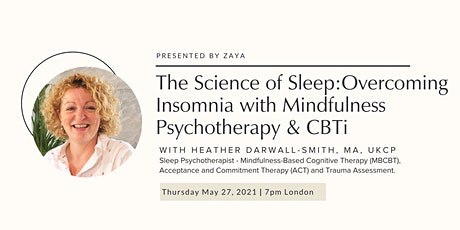 Overcoming Insomnia with CBTi & Mindfulness Psychotherapy tickets