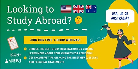 Study Abroad in USA/UK/Australia  (27th Mar 2021) tickets