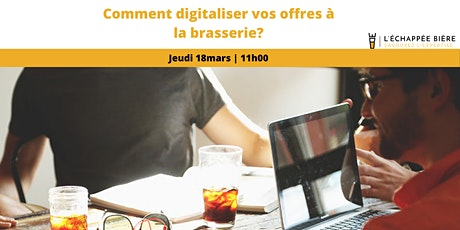 Comment digitaliser vos offres à la brasserie? billets
