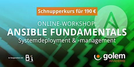 Schnupperkurs: Ansible Systemdeployment & -management Tickets
