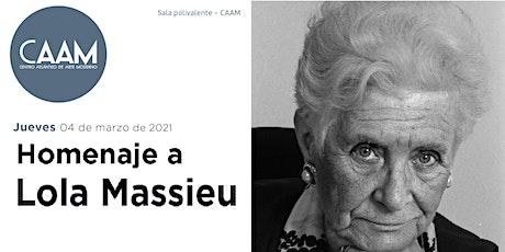 Homenaje a Lola Massieu entradas