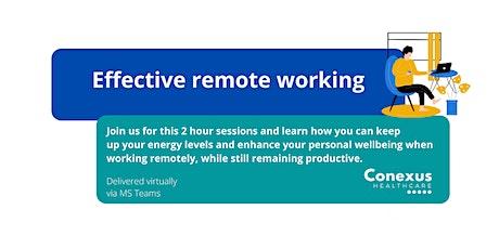 Effective Remote working tickets