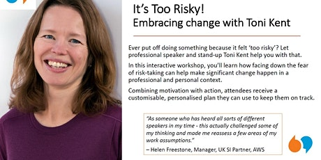 "Speaker Showcase - ""It's Too Risky"" with Toni Kent tickets"