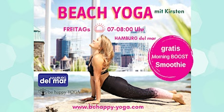 BEACH YOGA- HAMBURG del MAR & be happy YOGA Kirsten Tickets