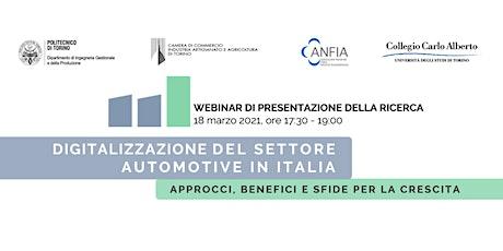 WEBINAR: DIGITALIZZAZIONE DEL SETTORE AUTOMOTIVE IN ITALIA biglietti