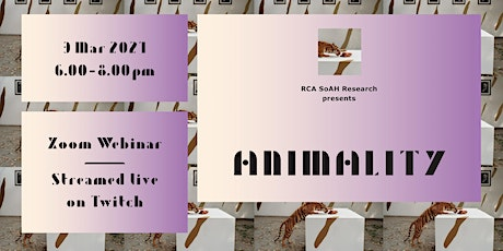 SoAH Research Presents | ANIMALITY tickets