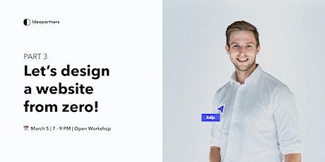 Open Workshop | Designing together PART 3 biglietti