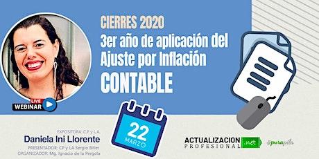 Cierres 2020 – 3er año de aplicación del Ajuste por Inflación CONTABLE tickets