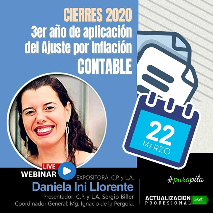 """Imagen de GRABACIÓN """"Cierres 2020 – 3er año del Ajuste por Inflación CONTABLE"""""""