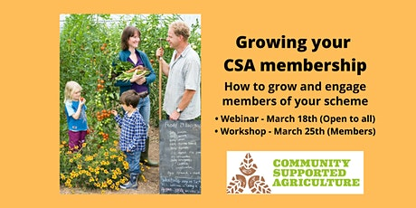 Growing your CSA scheme membership tickets