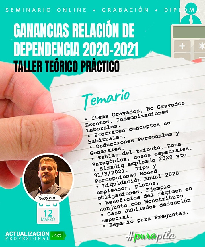 Imagen de <Grabación GANANCIAS RELACION DEPENDENCIA 2020-2021 TALLER TEORICO PRÁCTICO