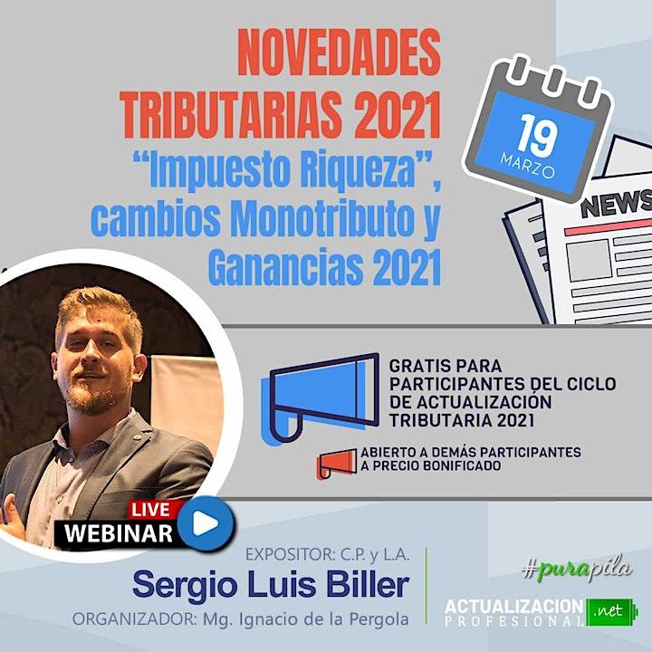 """Imagen de GRABACION -  Novedades Tributarias 2021 Imp a la  Riqueza"""" Mon y Gcias  21"""